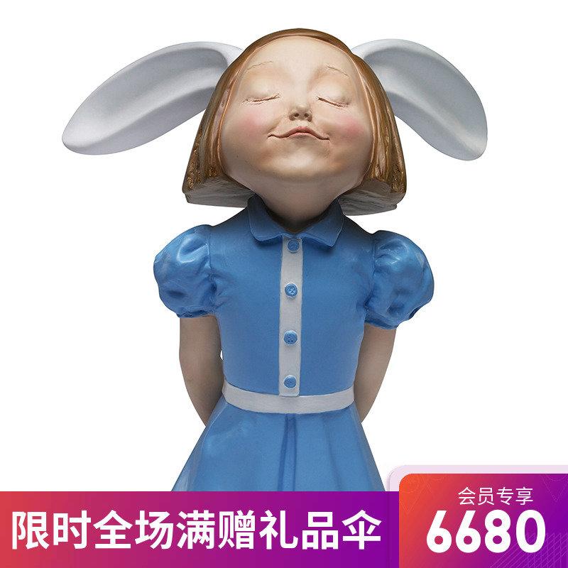 稀奇藝術向京《我看到了幸福》雕塑收藏品室內現代擺件裝飾禮盒裝