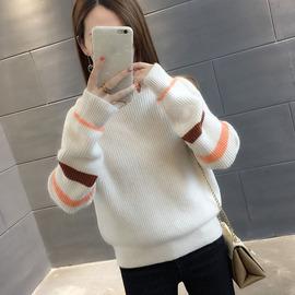 高领加绒加厚打底毛衣女新款宽松套头韩版