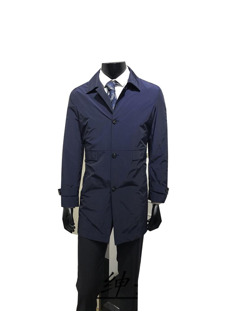 商务标准版 男士春季新款翻领中长款风衣 品牌专柜正品 色 2