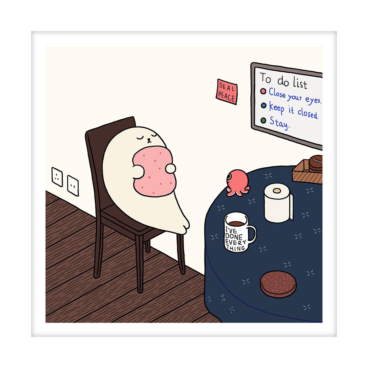 【王XX官方限量版画】小海豹系列|seal peace