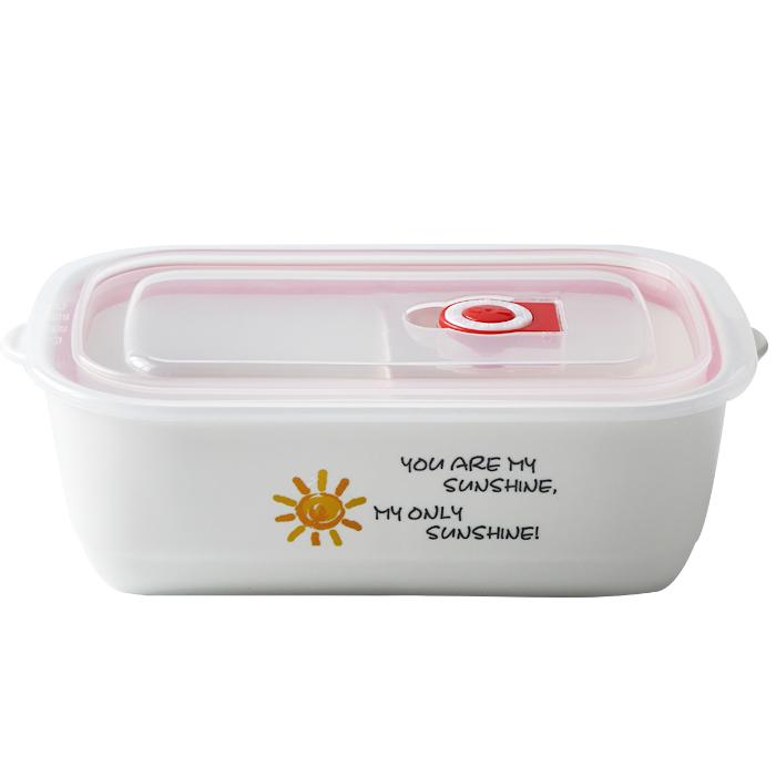 陶瓷多格保鲜碗微波炉陶瓷饭盒带盖便当盒食物分格保鲜储物盒包邮