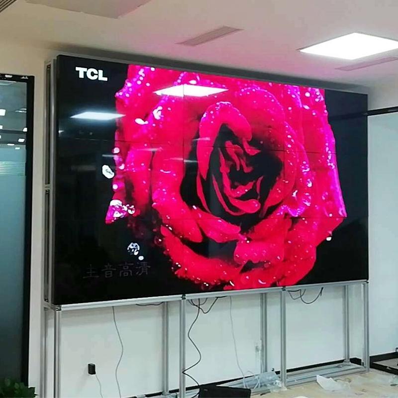 三星43 50 55 65寸8mm监控显示器led大屏幕液晶拼接屏酒吧电视墙