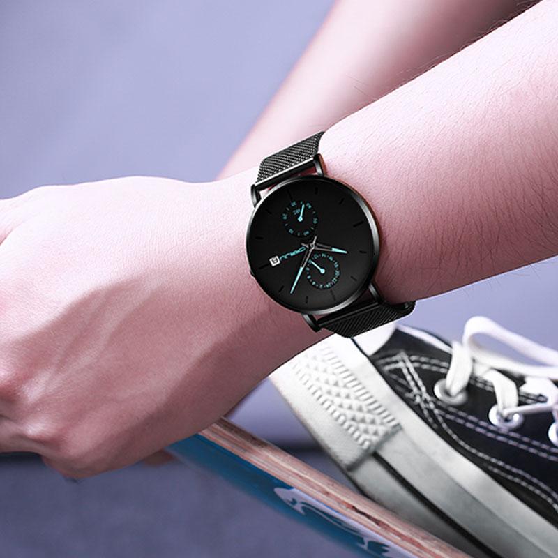 2019 新款虫洞概念高中生手表男学生青少年潮流防水机械表 男士手表
