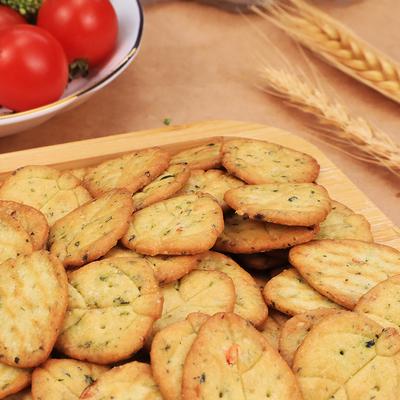 麦圈圈十二蔬菜饼干日式网红九蔬儿童咸味薄脆小圆零食12小饼干