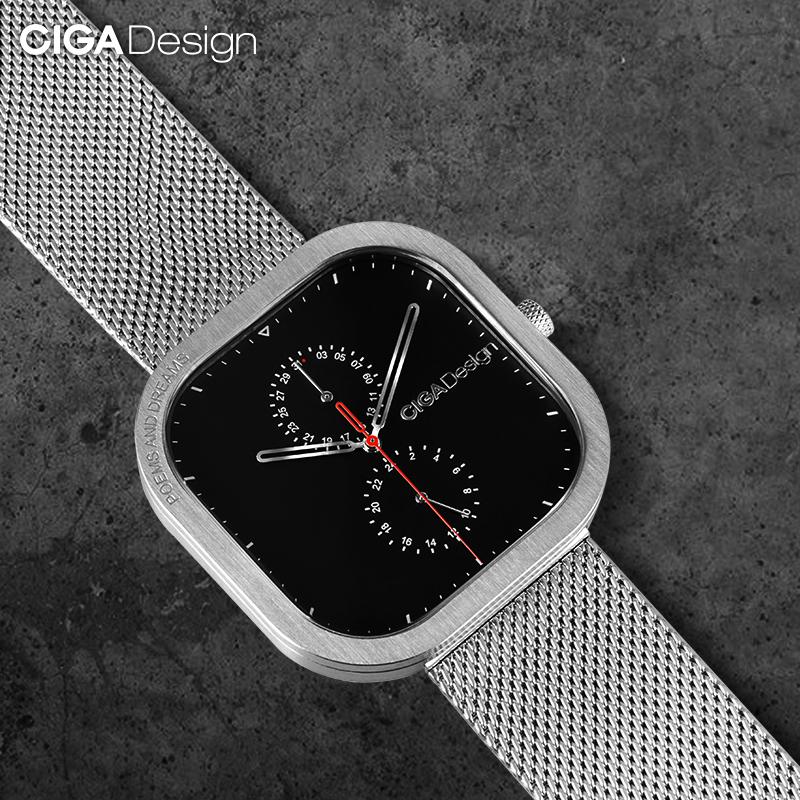 CIGA Design玺佳手表简约大方石英男表方形潮流学生表生日送礼