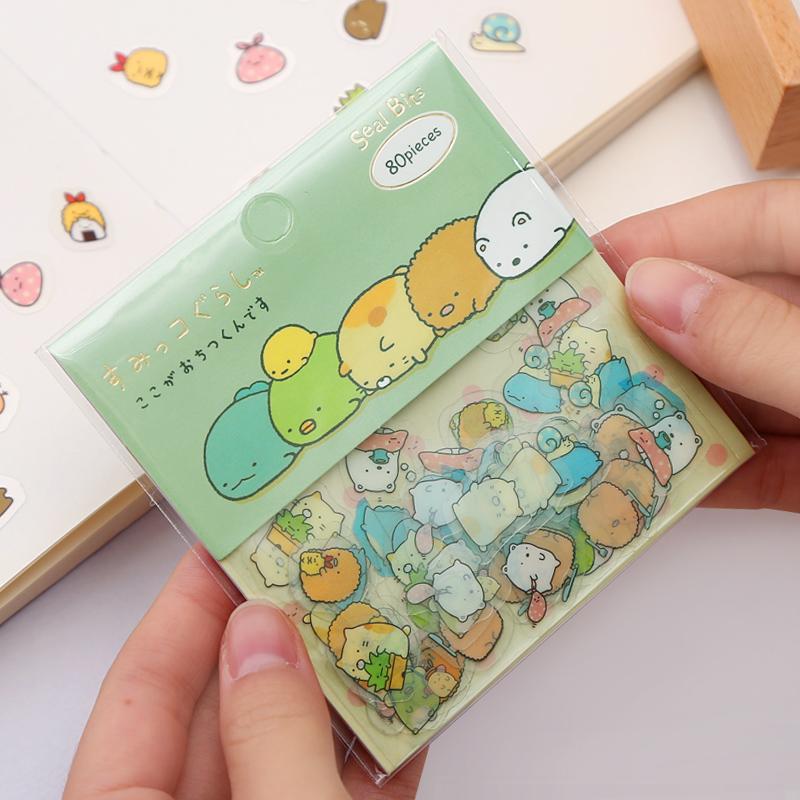韩国透明手账本贴纸创意可爱手机diy装饰小贴画清新手帐工具套装