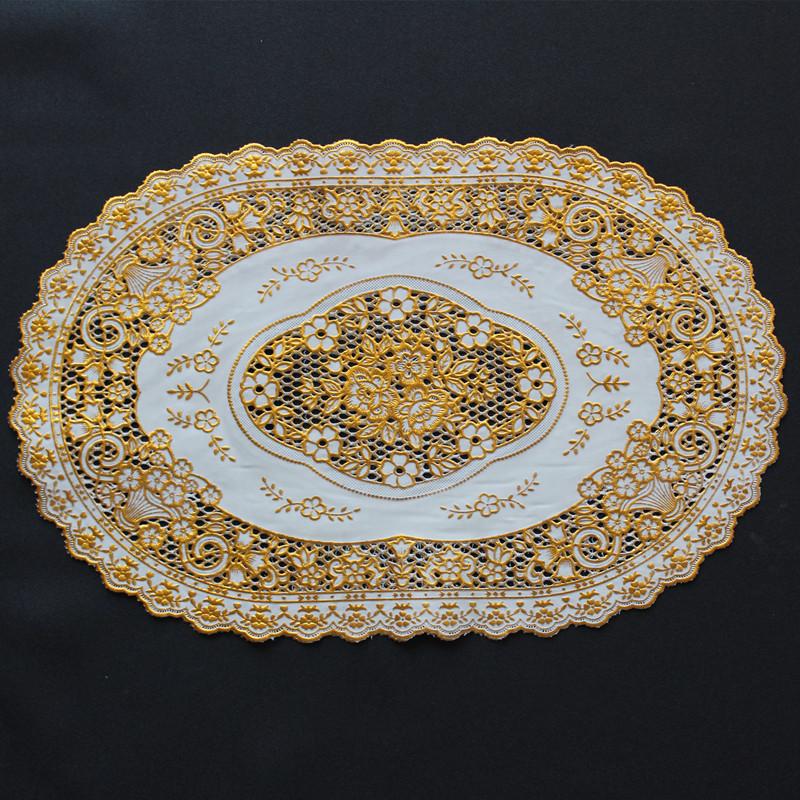 欧式烫金茶杯垫餐桌垫pvc环保碗垫盘子垫花盆花瓶垫ktv酒店西餐垫