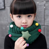 Warm children's scarf autumn and winter Korean version of boys and girls knitted wool neck cover baby full of star cartoon neck