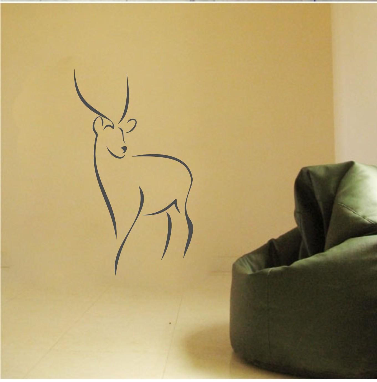 [淘寶網] 494抽象鹿頭北歐簡約風格家居裝飾牆貼