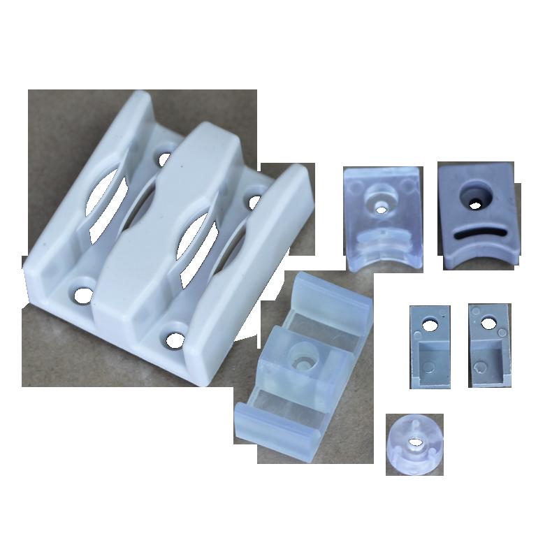 淋浴房橡胶玻璃垫 玻璃移门定位器 限位器 玻璃防撞器 橡胶滑块