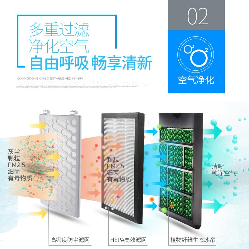 志高空调扇冷风机遥控单冷型家用移动制冷器小空调水冷空调冷风扇