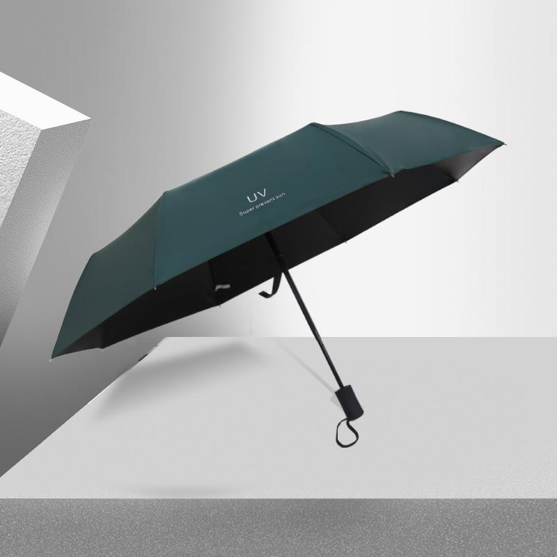 雨伞女晴雨两用遮阳伞全自动折叠太阳伞防晒防紫外线大号男印logo - 图1