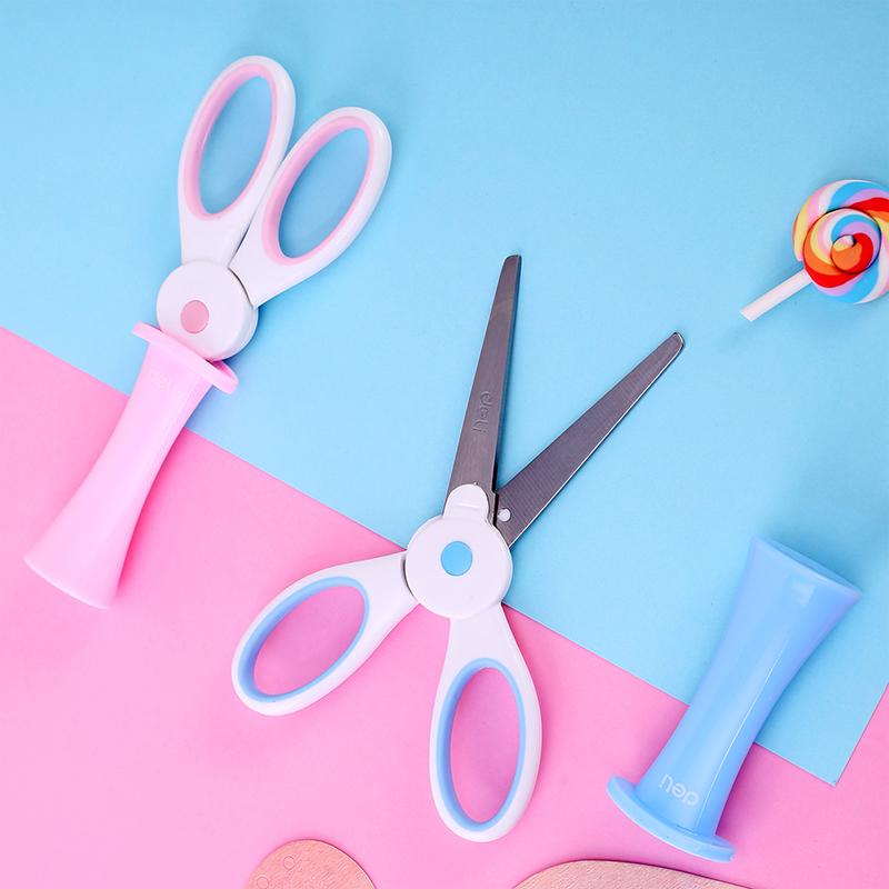 得力儿童手工剪刀家用安全小号随身便携美工小剪子圆头幼儿园宝宝迷你幼儿剪纸刀