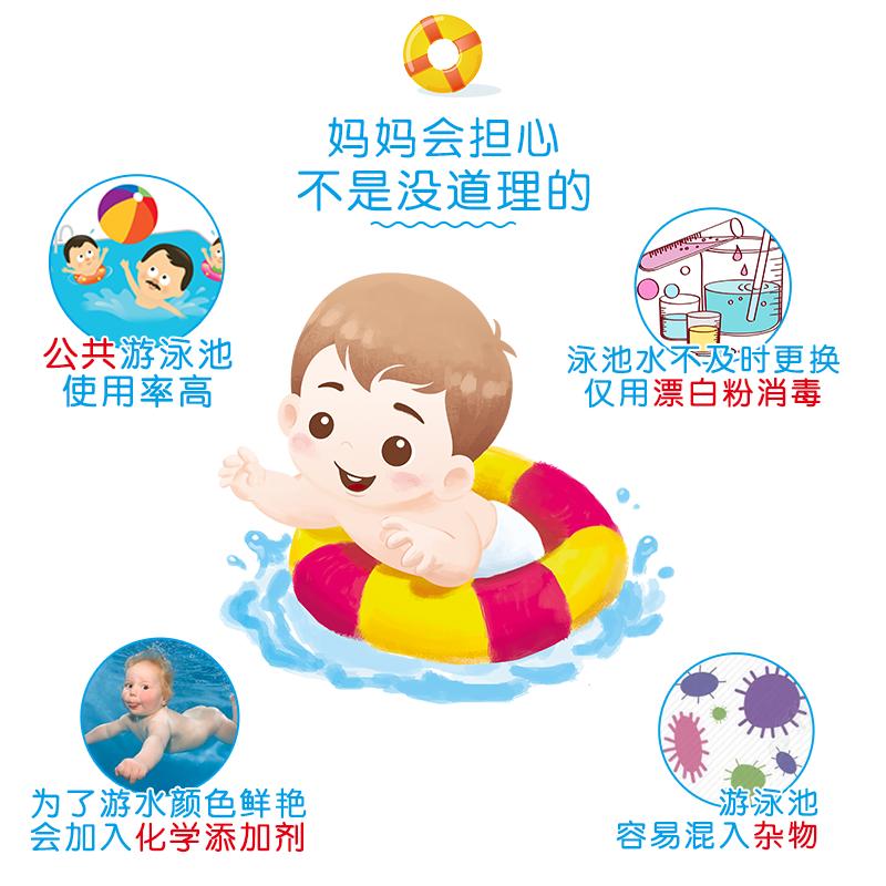 6片独立装防水尿不湿宝宝游泳婴儿纸尿裤L拉拉裤一次性泳裤XL可洗