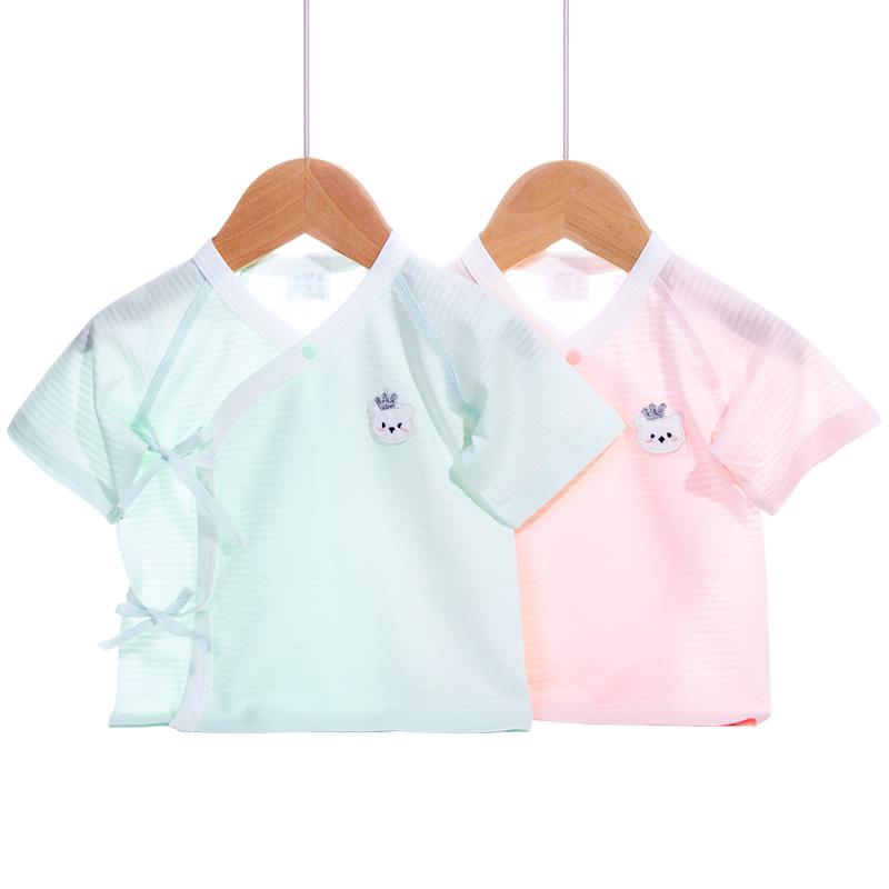 婴儿短袖上衣和尚服夏薄款衣服新生婴儿儿超薄半背衣单件半袖秋衣