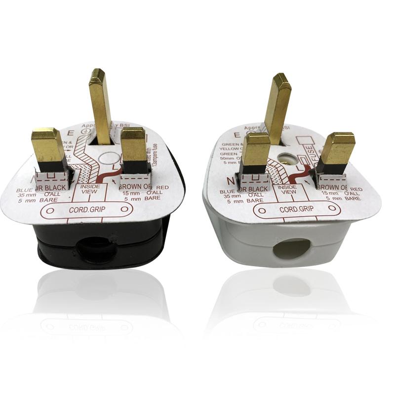 英式插头 FUSED 英规英标香港港版三脚方头带保险管接线BS插头13a