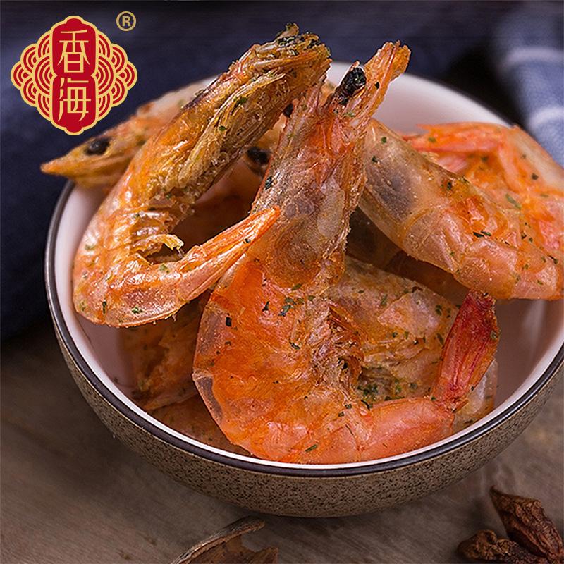 香海脆虾干 孕妇海鲜零食即食脆虾对虾干烤虾干虾香辣虾壳可食
