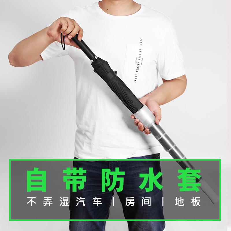 logo 男士帥氣大號超大學生森系簡約復古直桿定制 s 防水套雨傘長柄