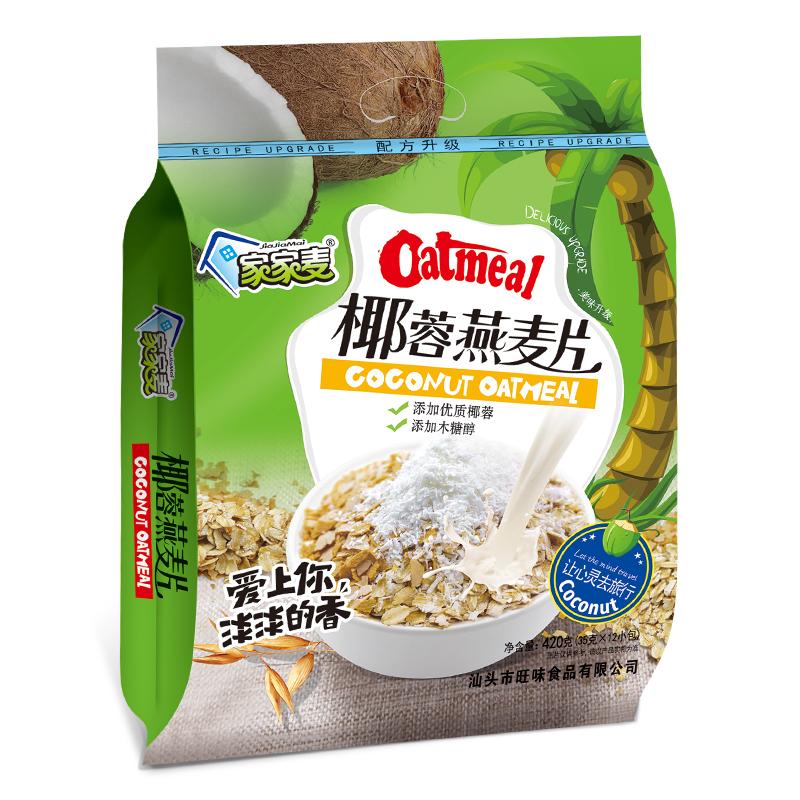 【家家麦】 椰奶椰蓉燕麦片420g