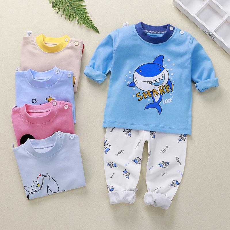 宝宝荚儿童秋衣秋裤套装全纯棉毛衫男童女童睡衣秋装婴儿内衣保暖