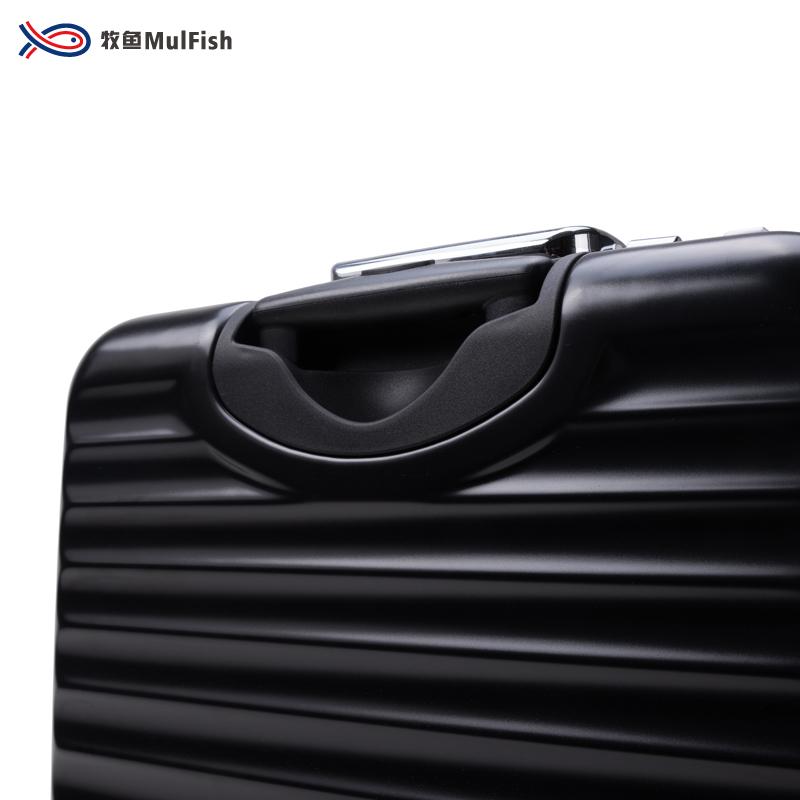 法国牧鱼高端男女商务拉杆箱万向轮铝框旅行箱登机箱多功能箱潮版