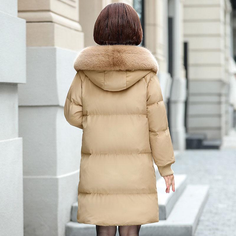 40岁中年女士妈妈装中老年女装冬季新款外套棉衣中长款保暖棉服