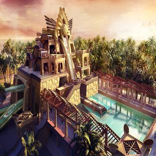 海南旅游三亚亚特兰蒂斯水世界/水族馆一日游含接送景点门票一日