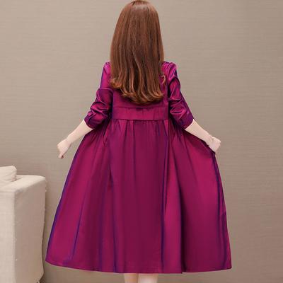 阔太太薄款女土妈妈秋装中长款风衣外套舒适韩版休闲单层高贵洋气