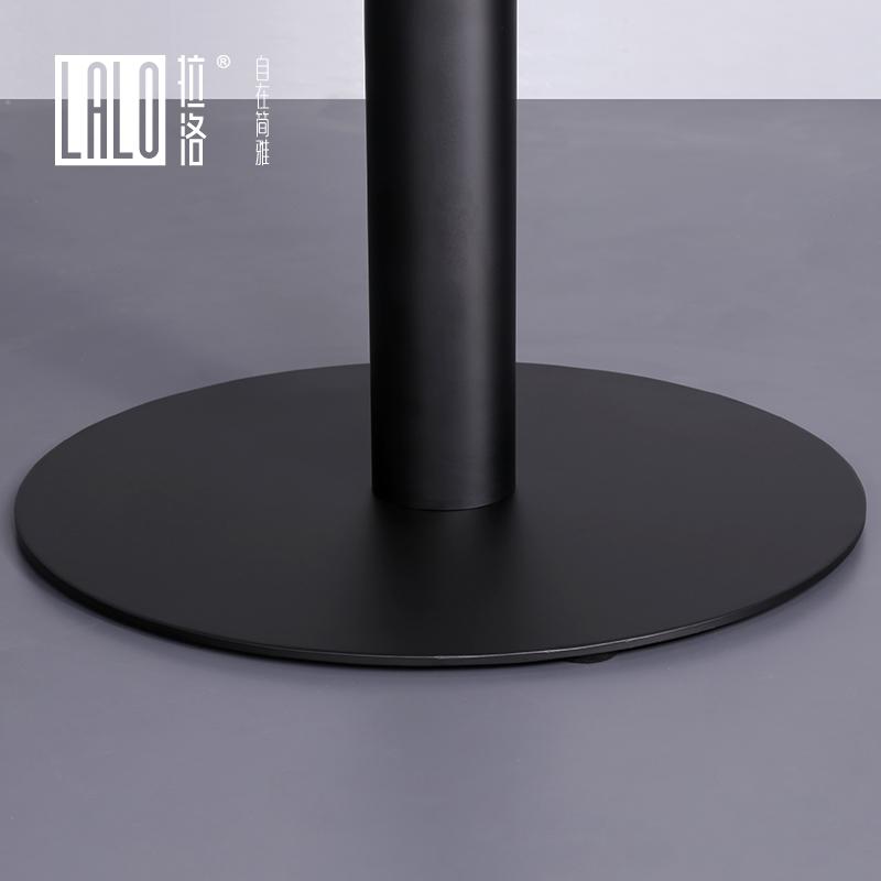 拉洛 纯黑色双人咖啡桌 耐磨耐潮小圆桌 西餐厅二人小餐台