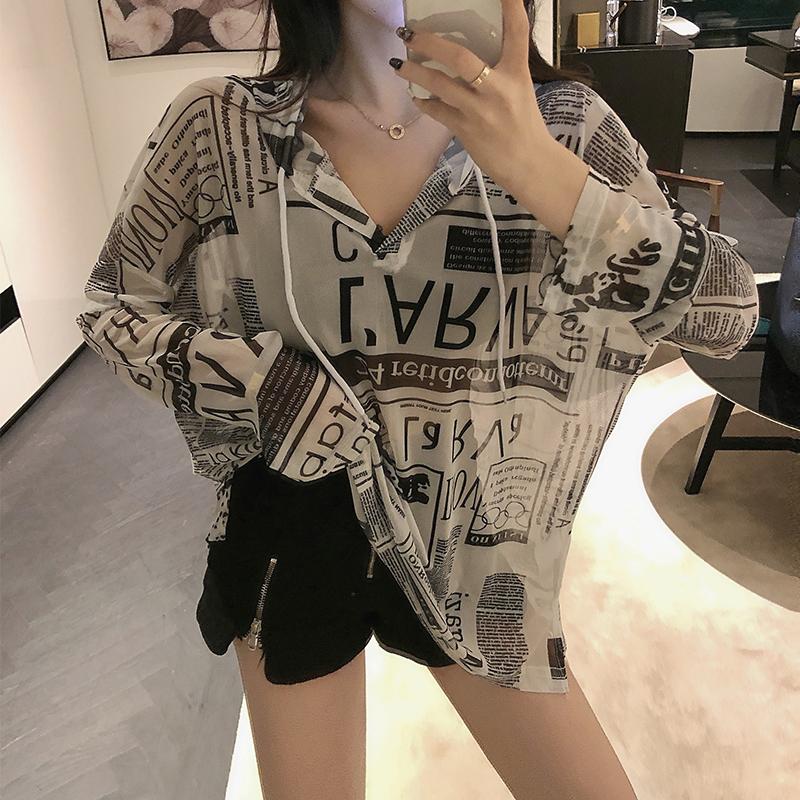中长款T恤女夏季2020年新款时尚韩版宽松露背性感长袖薄款上衣潮【图2】