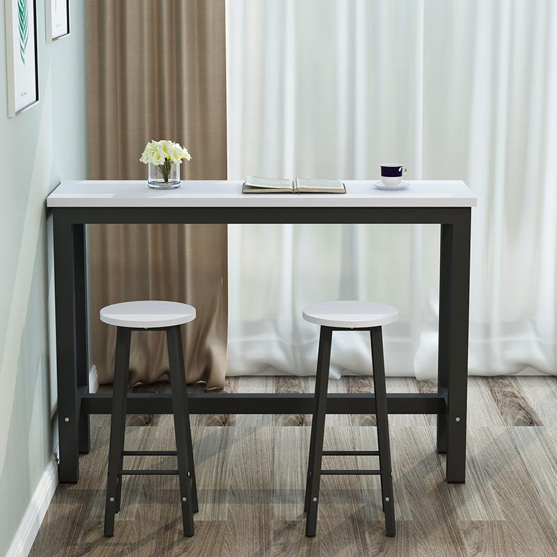 家用吧台小隔断高脚桌 靠墙吧台桌高桌子简约现代客厅长方形桌椅