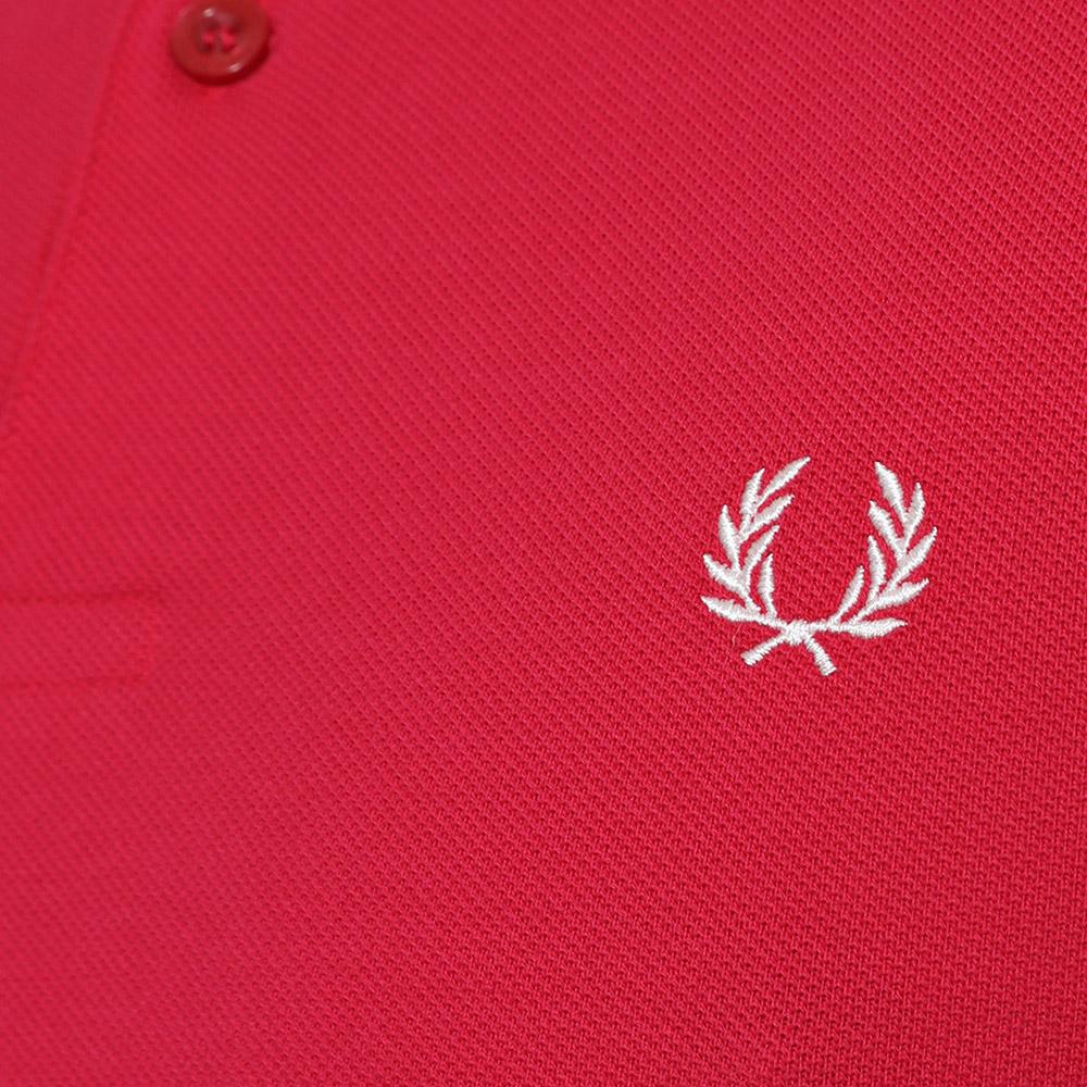 FRED PERRY男士POLO衫秋装新款纯色棉质翻领宽松短袖Polo衫M6000