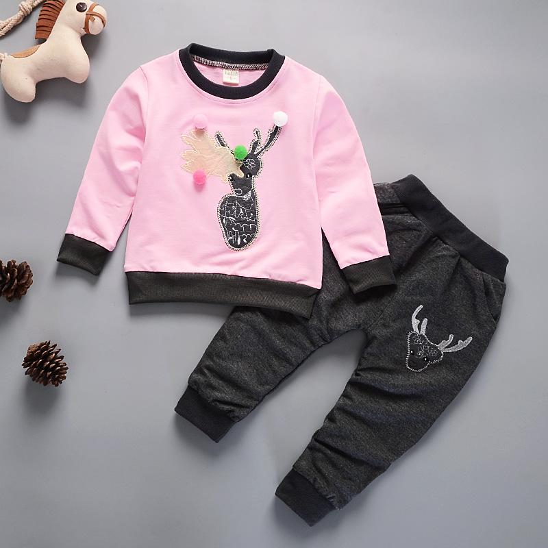 2019新款男童春装套装1-4岁男宝宝秋季长袖卫衣两件韩版小孩衣服