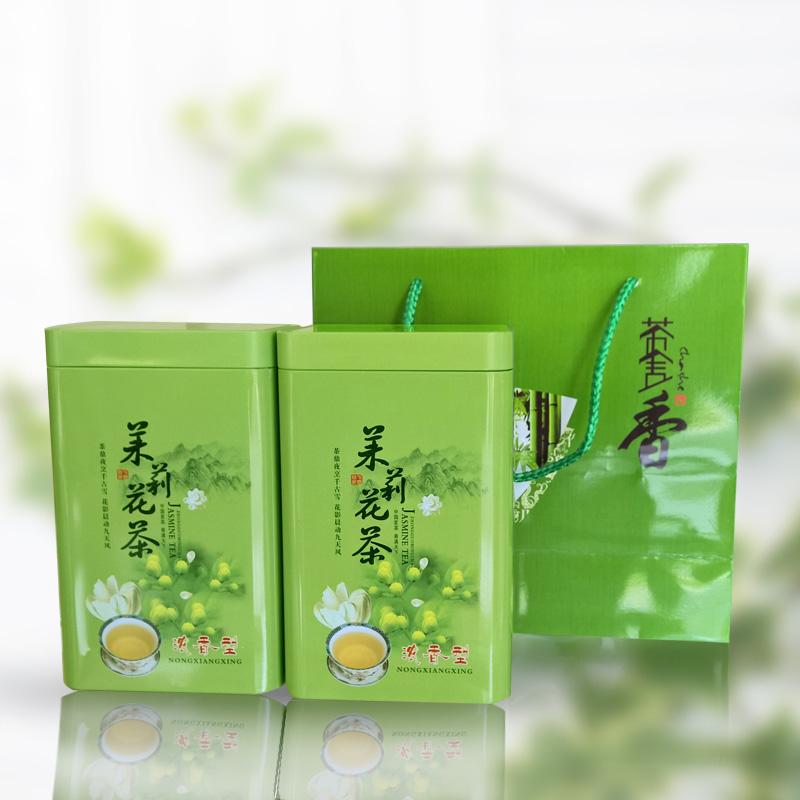 春茶 500g 斤礼袋装特级四川茶叶北川高山花茶 1 新茉莉花茶罐装 2017
