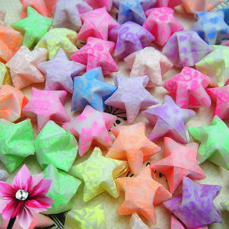手工星星成品幸运星折纸星星成品夜光星星成品折叠夜光星星折纸