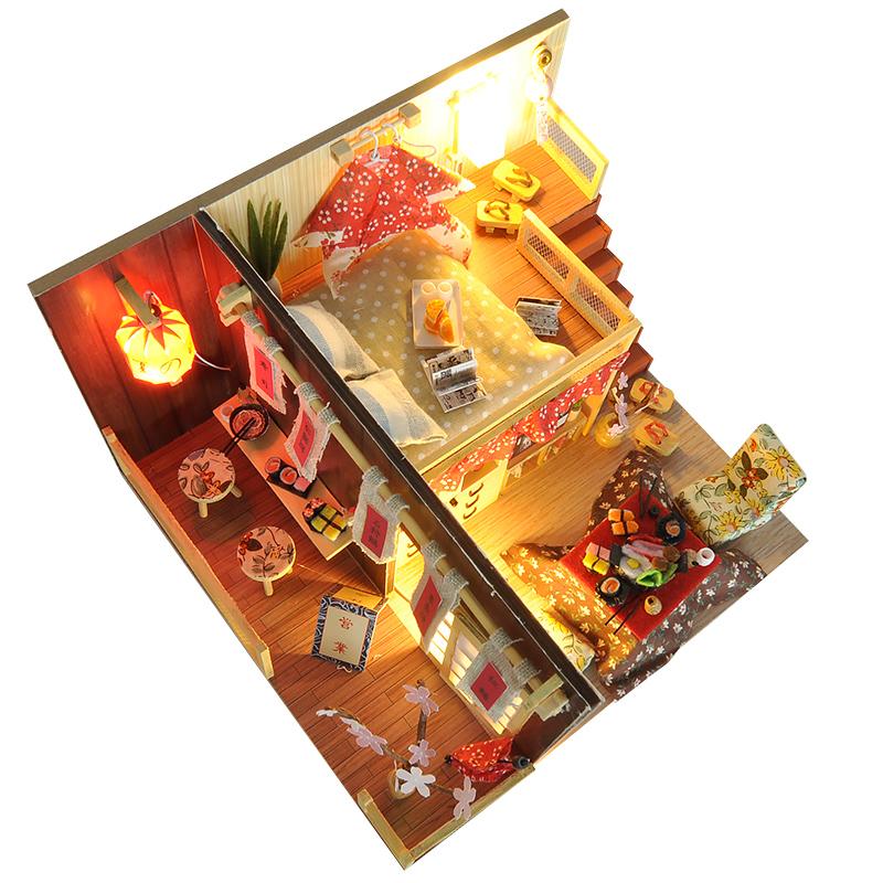 日式阁楼diy小屋樱花物语手工创意小房子模型拼装玩具生日礼物女