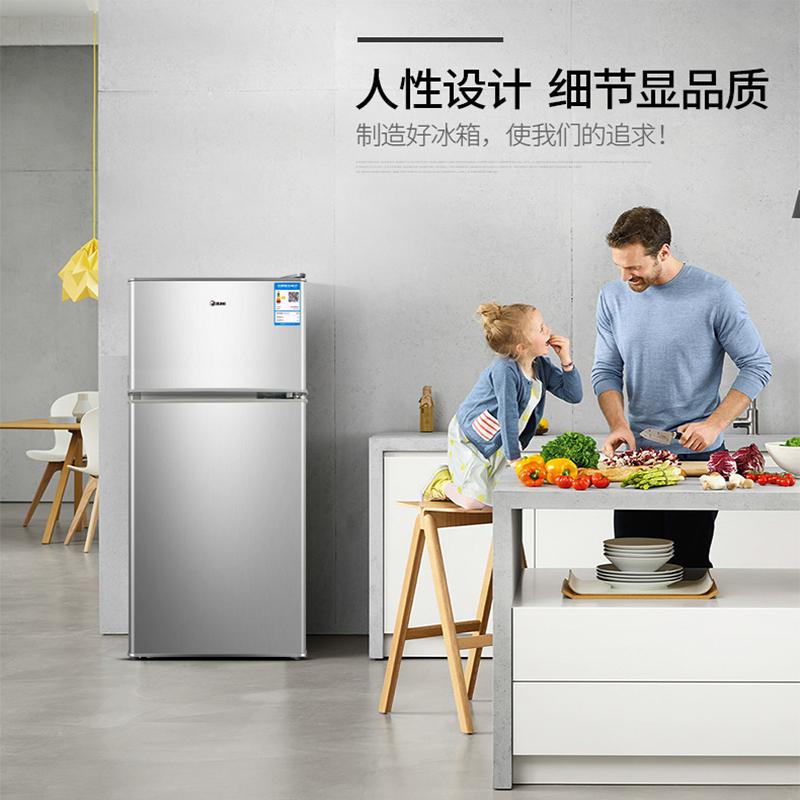 小型宿舍用家用二人世界双门储奶母乳冷藏冷冻 租房用 韩电小冰箱