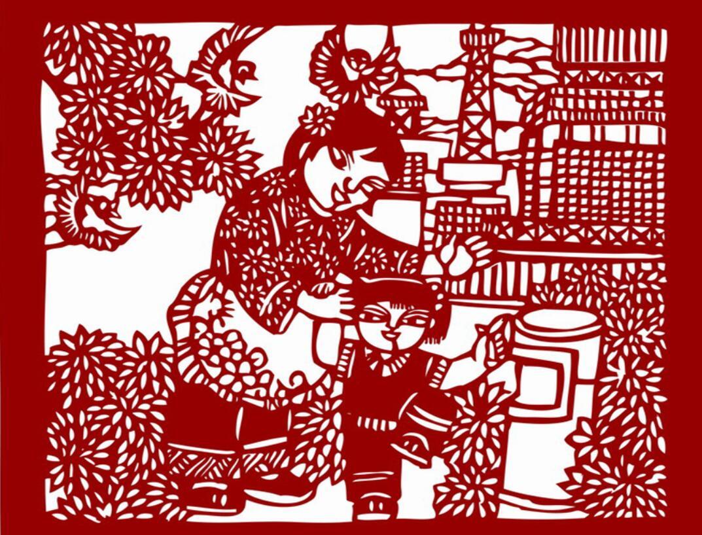 6幅 高清电子版 社会主义核心 价值观剪纸 手工刻纸练习图 装饰画