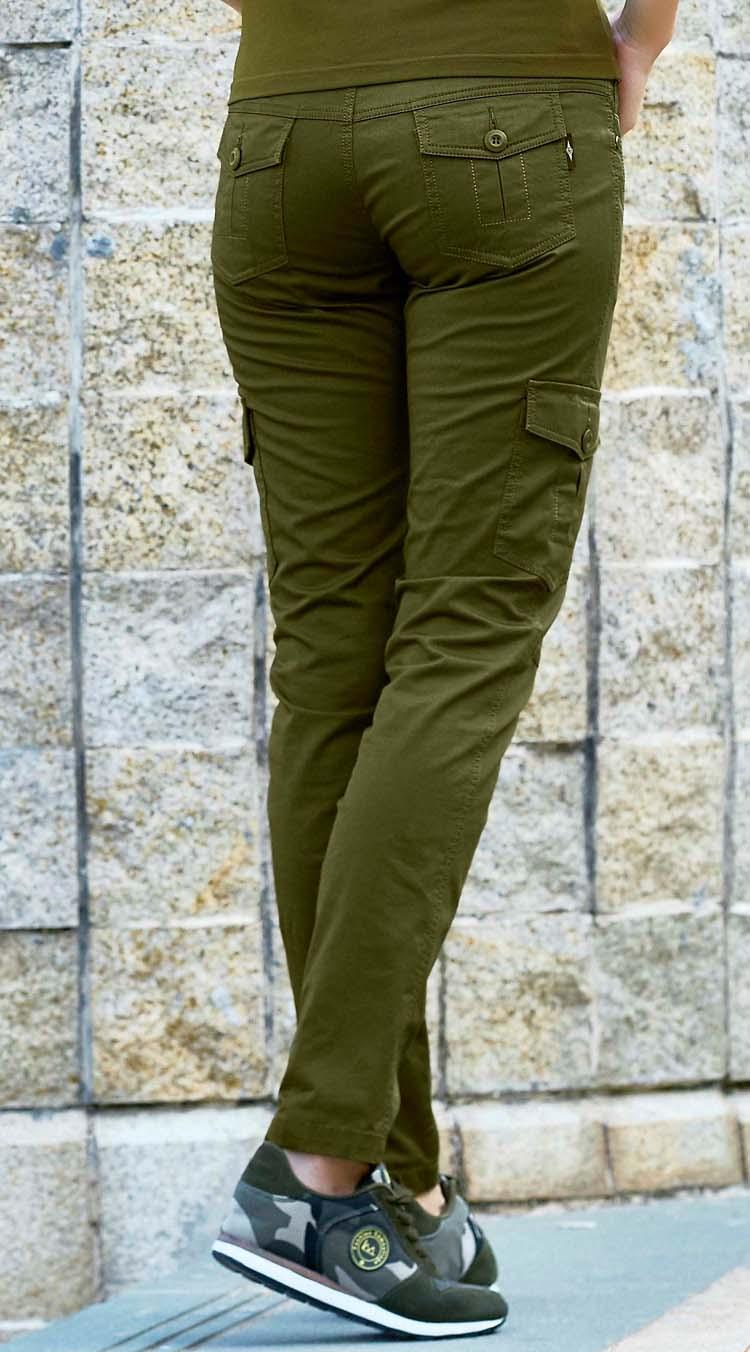春夏款绿色装备户外军迷服饰工装裤军裤小直筒军绿色休闲女长裤