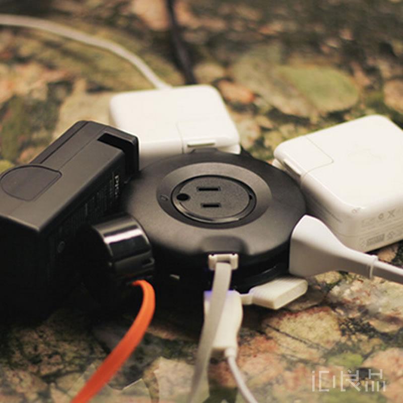 摩奇客Mogics甜甜圈插線板插排便攜插座 全球通用USB充電器旅行