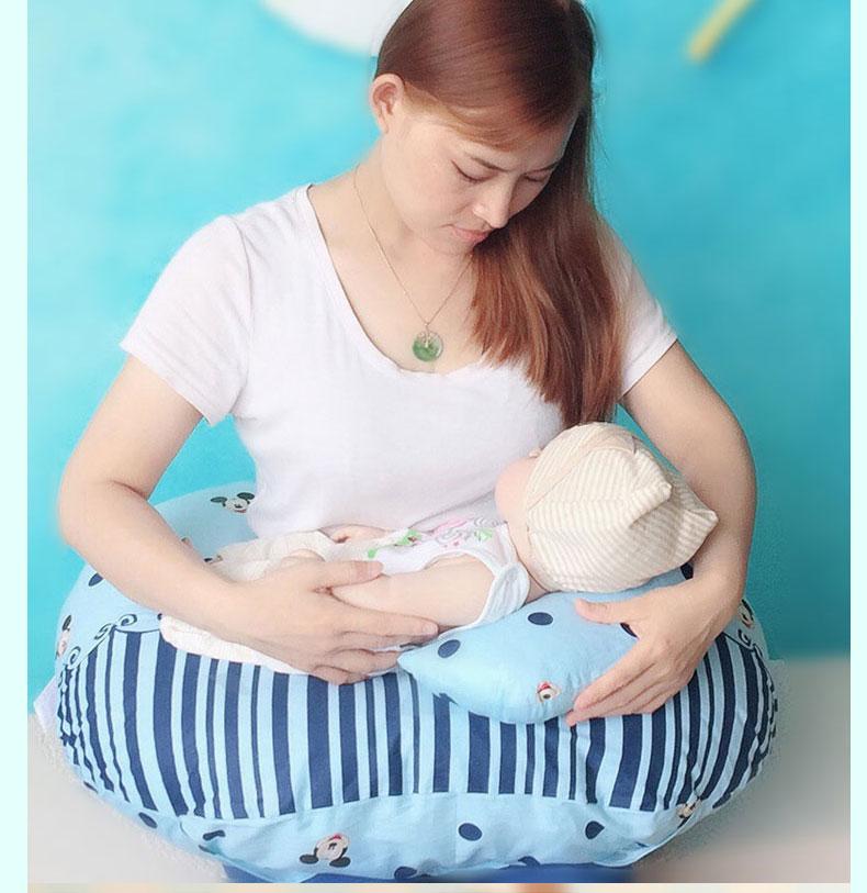 新生儿哺乳枕头喂奶护腰神器夏季躺喂多功能学坐靠垫靠背月子靠枕