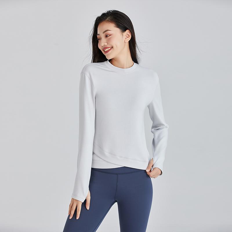 暴走的萝莉 健身服女秋季新品紧身瑜伽服长袖t恤训练速干运动上衣