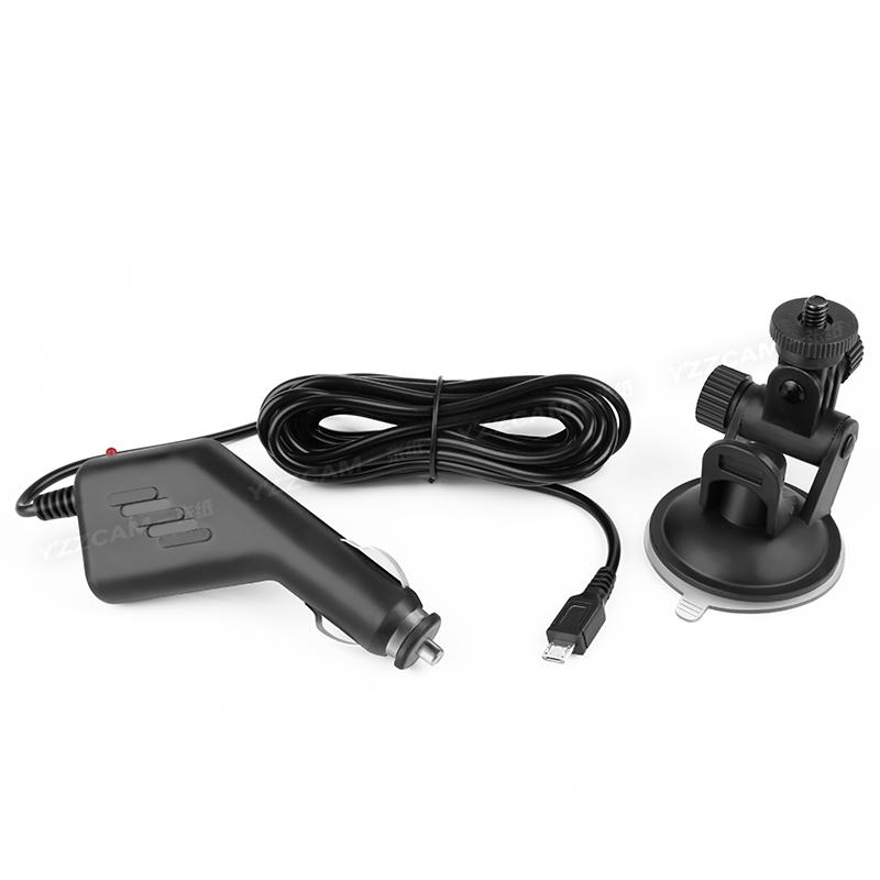 运动相机通用车载套车充吸盘套汽车支架充电器SJ9000/SJ4000/C4S