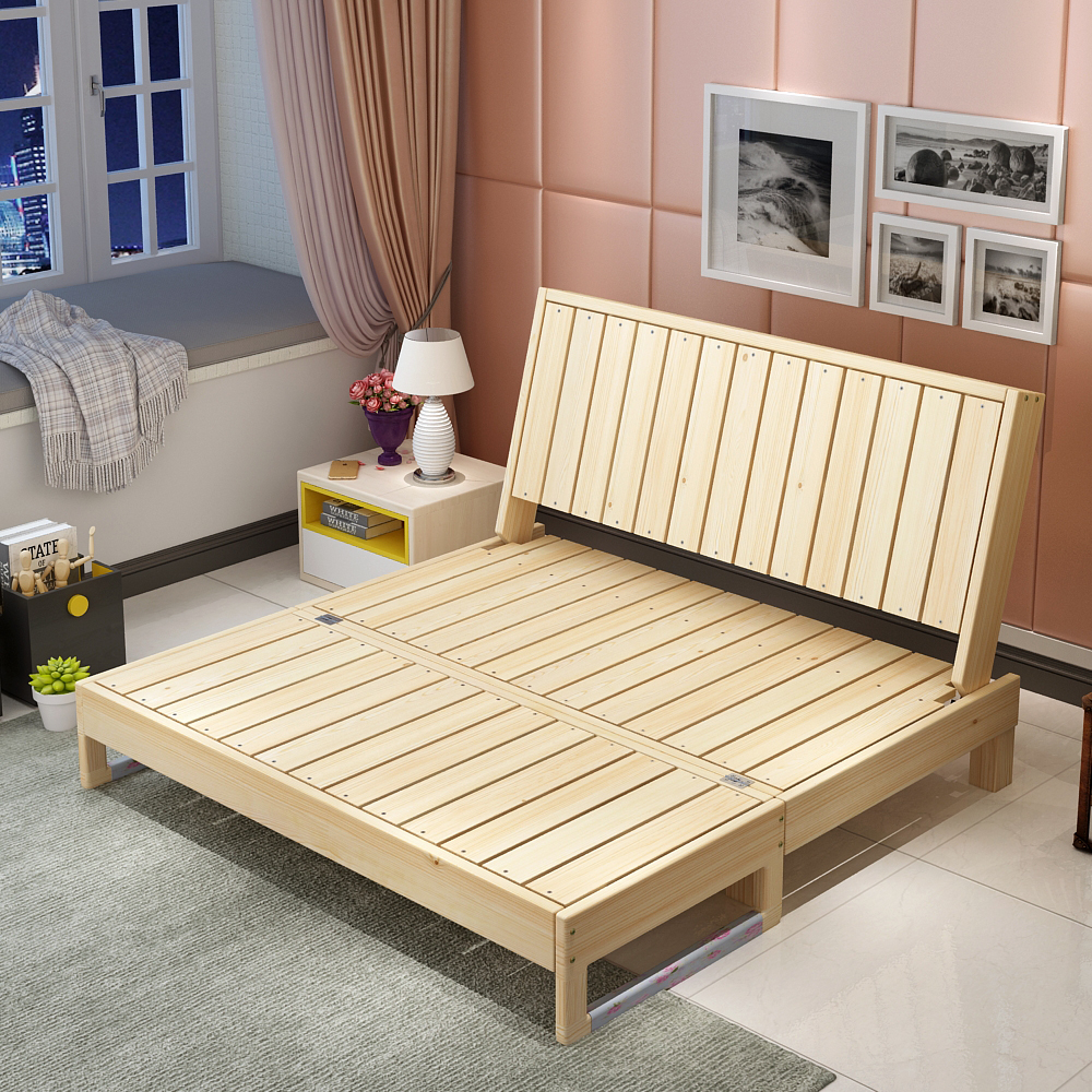 Solid Wood Sofa Bed Foldable Dual