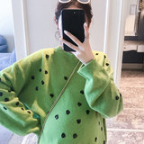 Maternity autumn and winter models two-piece suit fashion winter new style out jacket large size loose net red sweater tide