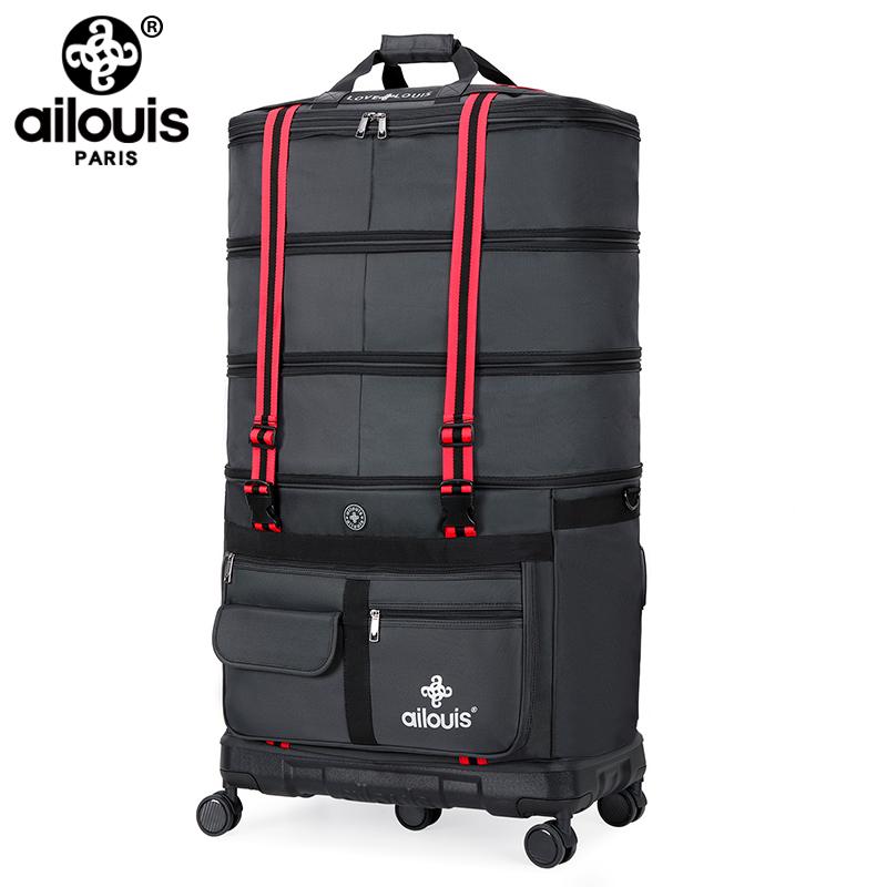 底壳旅行袋出国搬家移民包 PC 航空托账包超大容量 158 Ailouis 法国