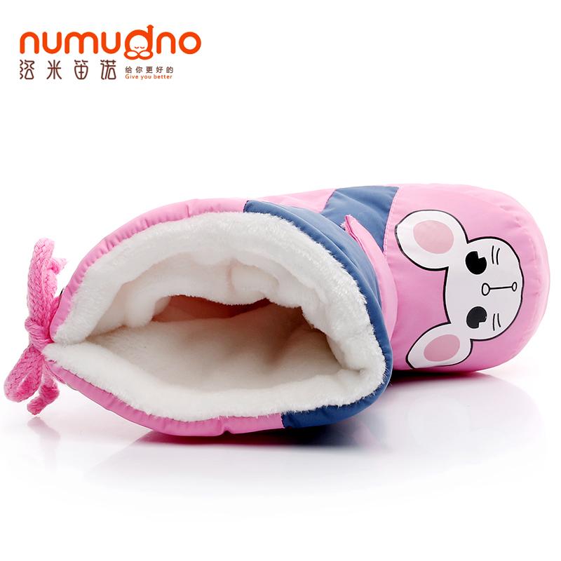 0-1岁女宝宝高帮棉鞋秋冬季6-12个月男宝宝加绒学步鞋子保暖防掉