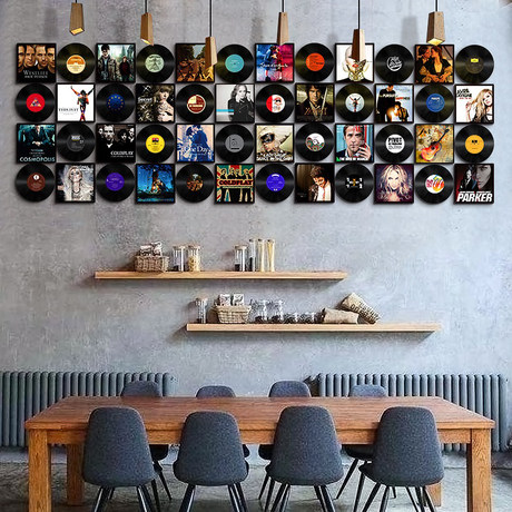 Photo wall hangings combo personality sofa background wall hangings picture frames bar cafe creative combination of wall 7 inch 10 inch 12 inch