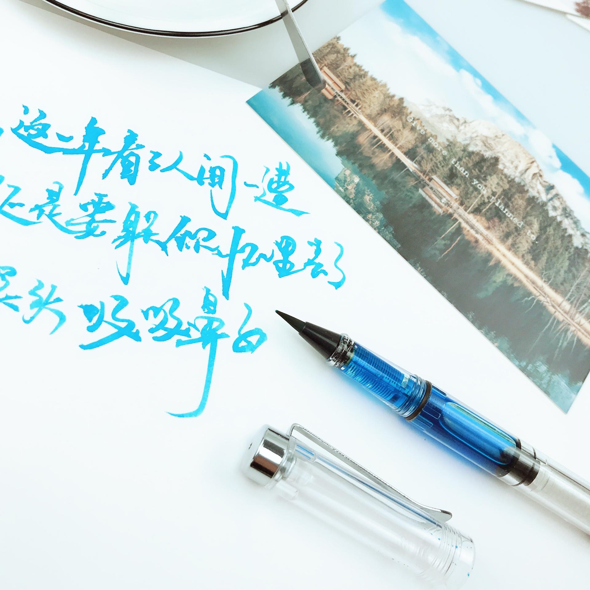 诗色 brush书法软笔便携式钢笔式毛笔笔杆加墨秀丽笔狼毫小楷毛笔