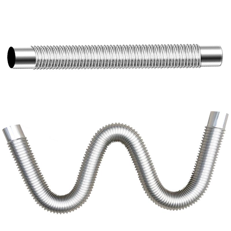 直径6cm美的万和林内等热水器配件60mm弯头止回阀不锈钢排烟管